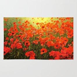 Field of poppies Rug