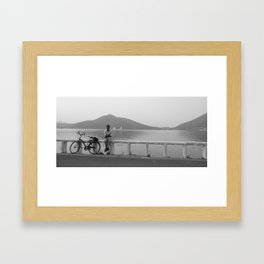 Bicycle by the Lake  Framed Art Print
