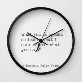 Emerson Ralph Waldo quote awesome 5 Wall Clock