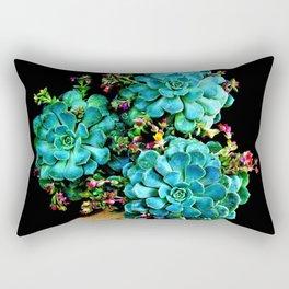 Beautiful Autumn plant green, blue Rectangular Pillow