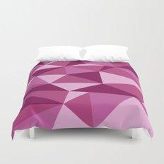 Pink Geometric Duvet Cover
