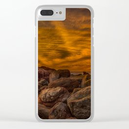 Red Rock Beach Clear iPhone Case