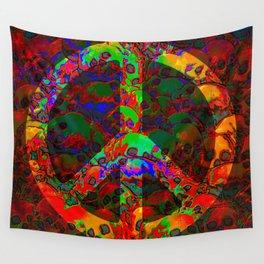PEACE SKULLS Wall Tapestry