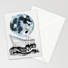 Night above the moon. Stationery Cards