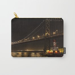 Bay Bridge Fire Boat at Night Carry-All Pouch