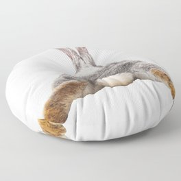 Cute Bunny Rabbit Tail Butt Image Easter Animal Floor Pillow