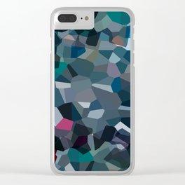 Ash Moon Love Clear iPhone Case