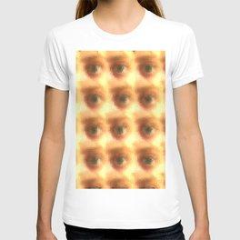 Creepy cartoon eyes pattern T-shirt