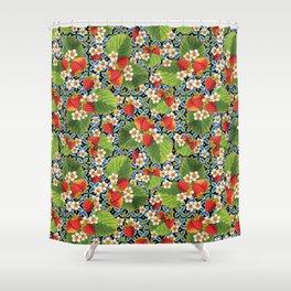 Strawberry Heraldic Shower Curtain