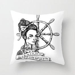 Sailor Woman Throw Pillow