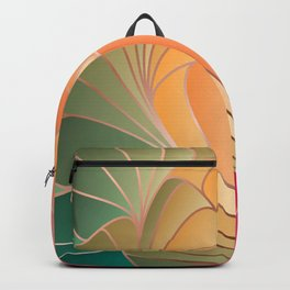 Pink Yellow Green Art Nouveau Backpack