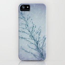Seeds of Weeds in Vintage Blue iPhone Case