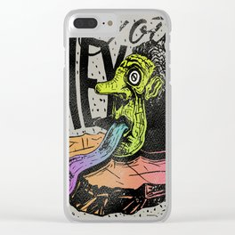 Hey you, let's fly! - Said the whale Clear iPhone Case