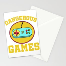 Best Trending Gaming Tshirt Design Dangerous Games Stationery Cards