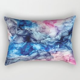 Soul Explosion- vibrant abstract fluid art painting Rectangular Pillow