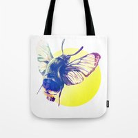 bug Tote Bags featuring bug by Xenia Pirovskikh