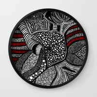 wave Wall Clocks featuring Wave by Lauren Moore