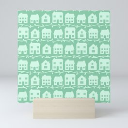 Cottage Charm in Peppermint Green Mini Art Print