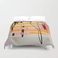 graffiti Duvet Covers featuring Graffiti by Iris & Ino
