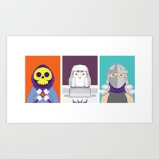 Cute Villains Set 1 Art Print