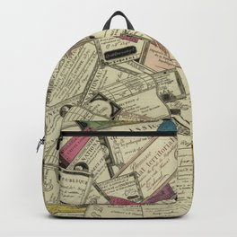 Antique Engraving of French Currency Backpack