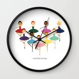 Nine Ladies Dancing Wall Clock