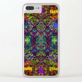 The symmetry of being Clear iPhone Case