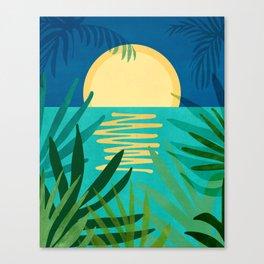 Midnight Ocean Canvas Print