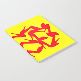 Shoe Fetish (Version 2) in Red and Yellow by Bruce Gray Notebook