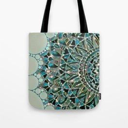 Bloom Mandala in Ocean Tote Bag