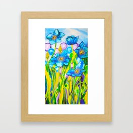 Blue Poppies 2 Framed Art Print