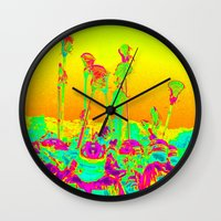 lacrosse Wall Clocks featuring Lax Stix by TMCdesigns