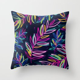 Jungle at Midnight Throw Pillow