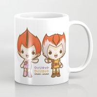thundercats Mugs featuring Willykit & Willykat - 1 by Azul Piñeiro