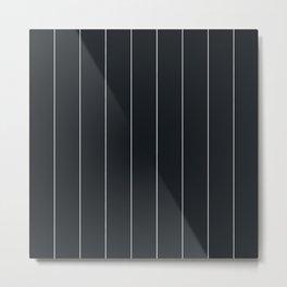 White and black pinstripes Metal Print