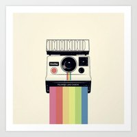 polaroid Art Prints featuring polaroid. by Pink Berry Patterns