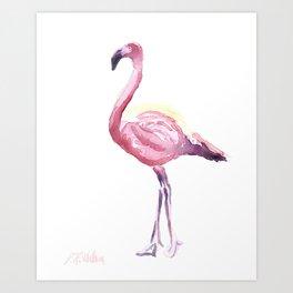 Full Flamingo Art Print