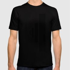 SOMEWHERE IN NOWHERE Mens Fitted Tee Black LARGE
