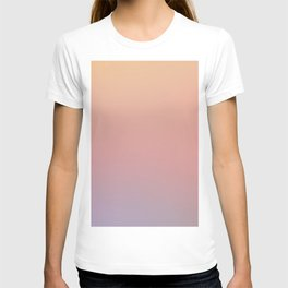 AFTER THOUGHTS - Minimal Plain Soft Mood Color Blend Prints T-shirt