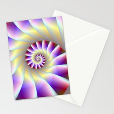 Red Purple and White Spiral Stationery Cards