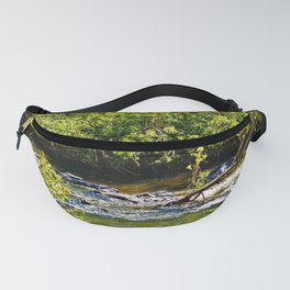 Beautiful river running over rocks Fanny Pack
