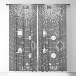Minimal Tarot Deck The Sun Sheer Curtain