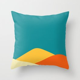 Abstract landscape. Throw Pillow