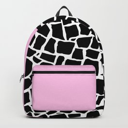British Mosaic with Pink Boarder Backpack