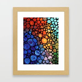 Abstract 1 - Beautiful Colorful Mosaic Art by Sharon Cummings Framed Art Print