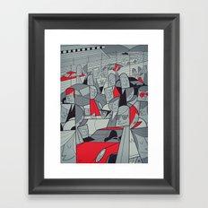 Porsche Racing Framed Art Print