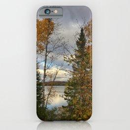 Warm Silver Lake, Fall iPhone Case
