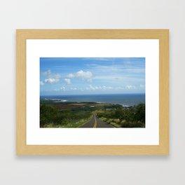 ROAD TO WAIMEA Framed Art Print