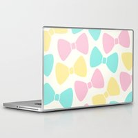 bows Laptop & iPad Skins featuring Pastel Bows by XOOXOO
