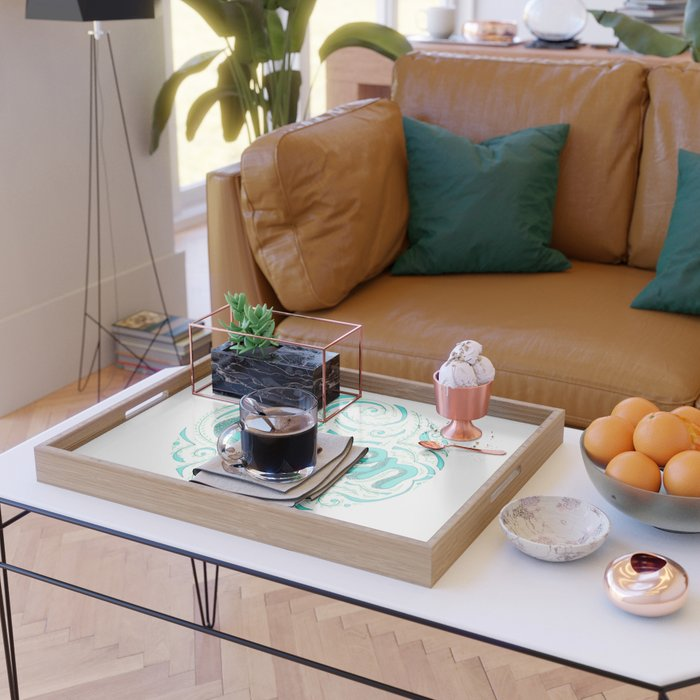 Green Serving Tray